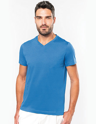 T-shirt V-hals korte mouwen