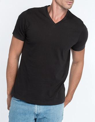 Men's V-neck short sleeve T-shirt