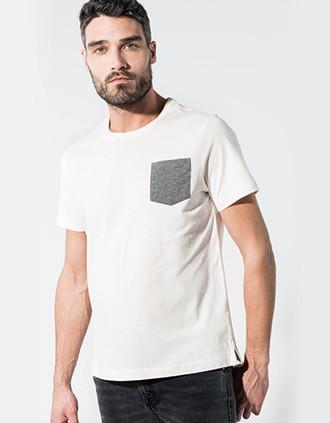 T-shirt BIO-katoen met borstzakje