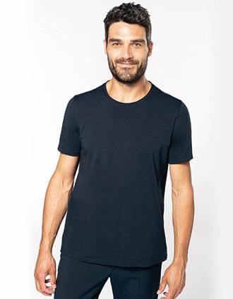 Bio T-shirt kraag met onafgewerkte rand korte mouwen
