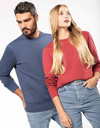 Ecologische sweater met ronde hals