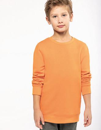 Ecologische kindersweater met ronde hals