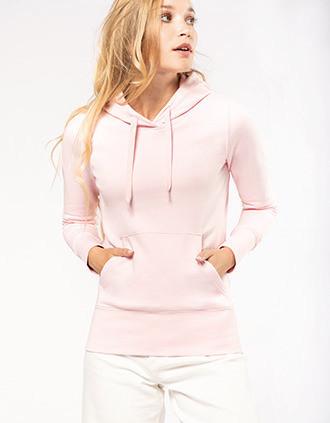 Ecologische damessweater met capuchon