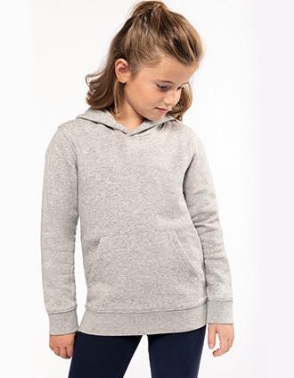 Ecologische kindersweater met capuchon