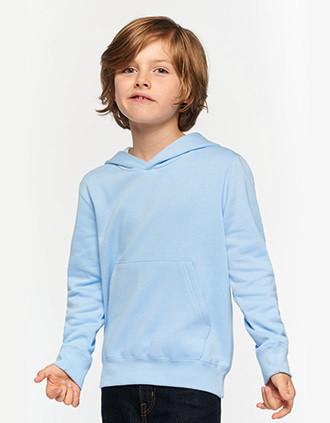 Kinder hooded sweater met gecontrasteerde capuchon