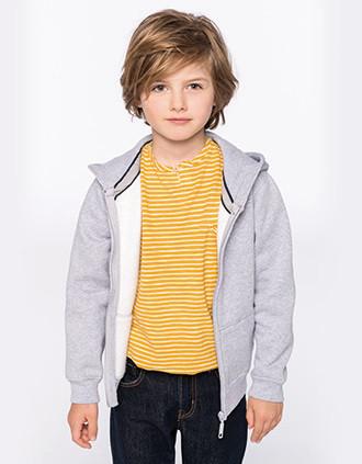 Kinder hooded sweater met rits
