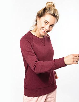 Damessweater BIO ronde hals raglanmouwen