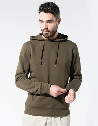 Herensweater met capuchon BIO