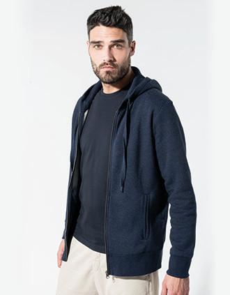 Herensweater met rits en capuchon BIO