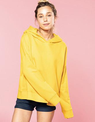 Damessweater met capuchon Lounge bio