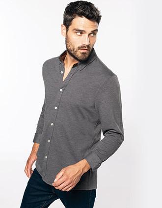Jacquard overhemd  lange mouwen