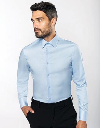 Getailleerd heren bon-iron overhemd lange mouwen