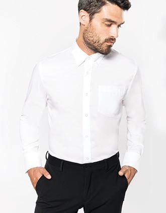 Heren non-iron overhemd lange mouwen