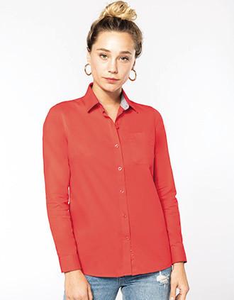 Damesoverhemd met lange mouwen van katoen Nevada