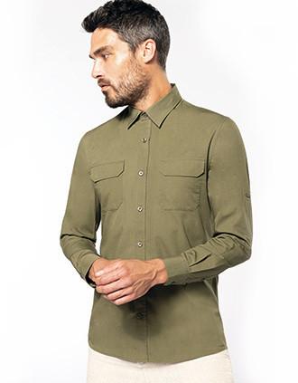 Overhemd safari lange mouwen
