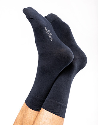 Halfhoge, geklede sokken van biologisch katoen