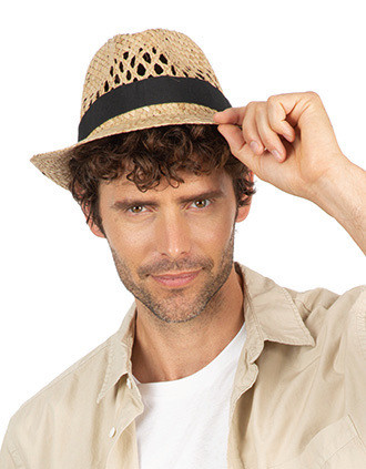 Gevlochten Panama-hoed