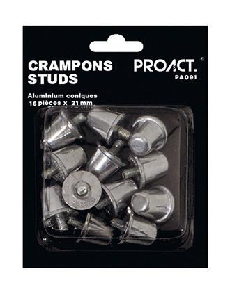Doos met 16 kegelvormige studs van aluminium