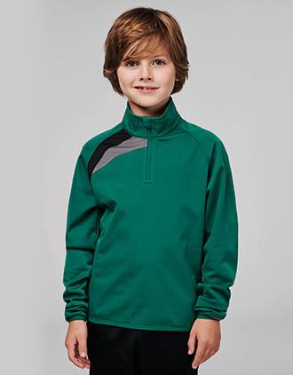Kindertrainingsweater Met Ritskraag