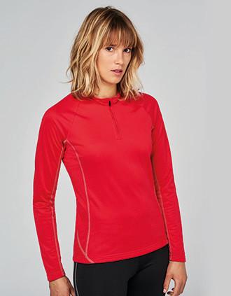 Damesrunningsweater Met Halsrits