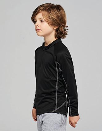 Kinderrunningsweater Met Halsrits