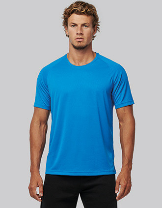 Gerecycled herensport-T-shirt met ronde hals