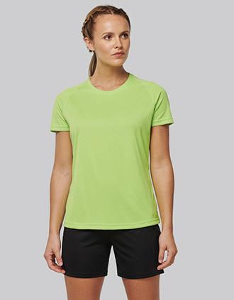 Gerecycled damessport-T-shirt met ronde hals