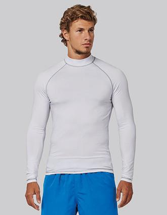 Functioneel heren-t-shirt met lange mouwen en anti-UV-bescherming