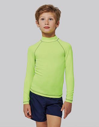Technisch kinder-T-shirt met lange mouwen en anti-UV-bescherming
