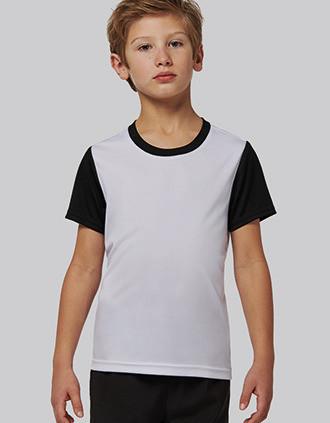 Tweekleurige jersey met korte mouwen voor kinderen