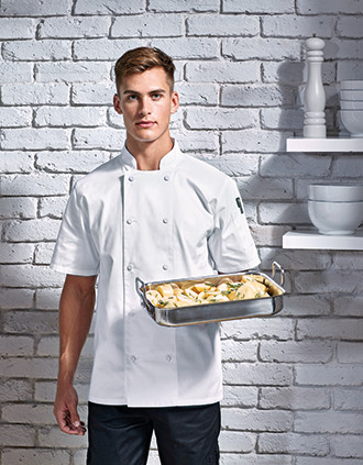 Coolchecker® koksjas met korte mouwen