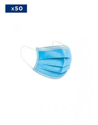 Medisch wegwerpmasker - 3-laags- Verkocht per pack van 50 maskers