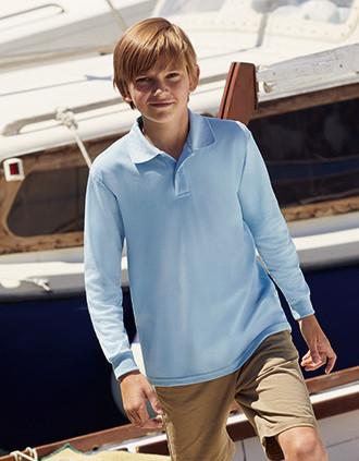 65/35 Kids' long sleeve polo shirt